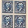 $2 bright blue Madison proof block of four