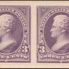 3c purple Jackson proof horizontal pair