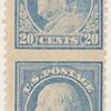 20c light ultramarine Franklin pair