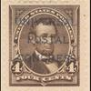 4c dark brown Lincoln specimen single