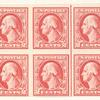 2c carmine rose Washington block of ten