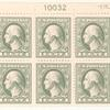 1c gray green Washington block of six