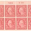 2c carmine rose Washington block of eight