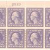 3c violet Washington block of eight