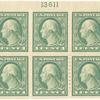 1c green Washington block of ten
