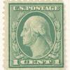 1c green Washington block of three