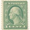 1c green Washington block of three
