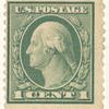 1c green Washington single