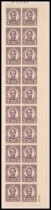 3c violet Abraham Lincoln block of twenty