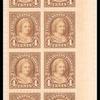 4c yellow brown Martha Washington block of twenty