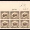 30c olive brown American Buffalo block of twenty