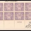50c lilac Arlington Amphitheater block of twenty