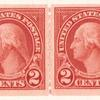 2c carmine Washington strip of four