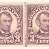 3c violet Abraham Lincoln strip of four