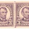 3c violet Abraham Lincoln strip of four