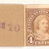 4c yellow brown Martha Washington strip of four
