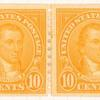 10c orange James Monroe strip of four