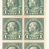 1c deep green Franklin booklet pane of six