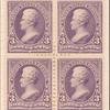 3c purple Jackson block of four