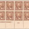 5c chocolate Grant block of eight