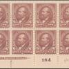 6c dull brown Garfield block of eight