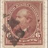 6c dull brown Garfield single