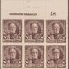8c violet brown Sherman block of six