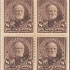 8c violet brown Sherman block of four