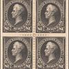 $1 black Perry block of four