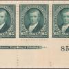 $5 dark green Marshall strip of three