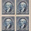 $2 bright blue Madison block of four