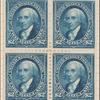 $2 bright blue Madison block of four