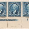 $2 bright blue Madison strip of three