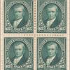 $5 dark green Marshall block of four