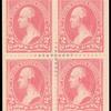 2c pink Washington block of four