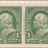1c deep green Franklin pair