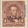 4c lilac brown Lincoln specimen single