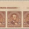 4c orange brown Lincoln strip of three