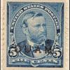 5c dark blue Grant single