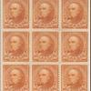 10c orange brown Webster block of nine