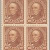 10c brown Webster block of four