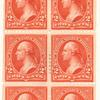 2c red Washington booklet pane of six