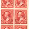 2c red Washington specimen booklet pane of six