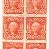 2c scarlet Washington booklet pane of six