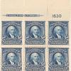 $2 dark blue Madison block of six