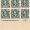 $5 dark green Marshall block of six