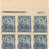 5c blue Lincoln block of six