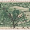 1c dark yellow green Jacques Marquette on the Mississippi single