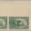 1c dark yellow green Jacques Marquette on the Mississippi pair