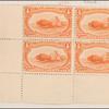 4c orange Indian Hunting Buffalo block of four